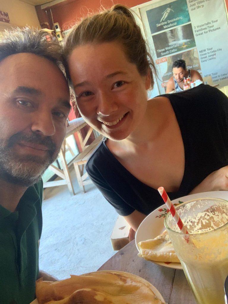 Inge en Peter aan het ontbijt